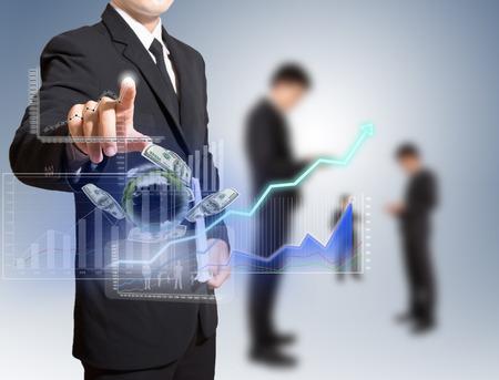 Geschäftsmann analysieren Graph Standard-Bild - 27357195