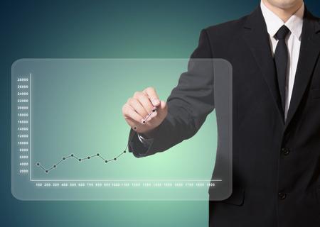 Geschäftsanalyse Graph verbessern mehr empfehlen Standard-Bild - 27357205
