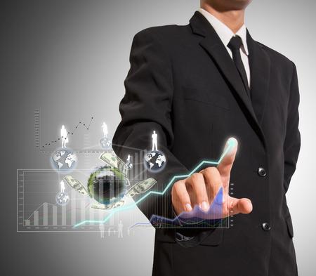 Geschäftsmann analysieren Grafik Standard-Bild - 27357230
