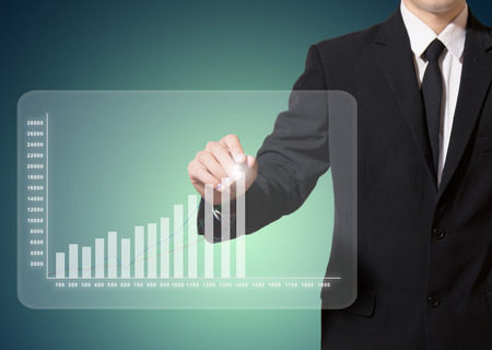 businessman analysis graph improve suggest more