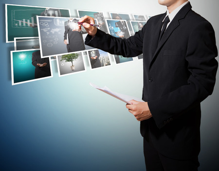 business with digital picture high technology concept