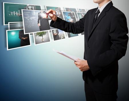 Geschäft mit digitalen High-Tech-Konzept-Bild Standard-Bild - 27357294
