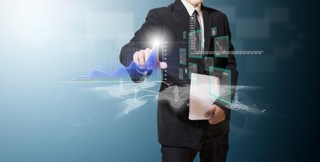 Geschäftsanalyse Kurve auf dem Bildschirm High-Tech- Standard-Bild - 27357364