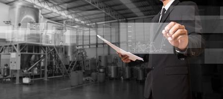 manager analyse omzet op digitaal scherm