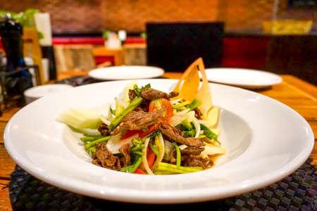 Thai food Beef Salad, Asian food