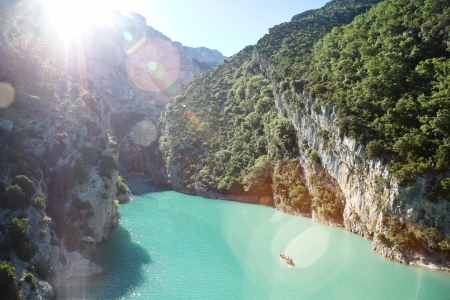 Gorges du Verdon, river mouth Sainte Croix lake photo