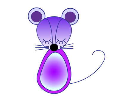 Little mouse. Illustration