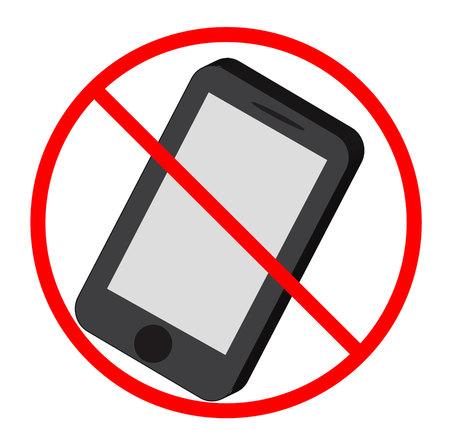 No mobile phone. Illustration