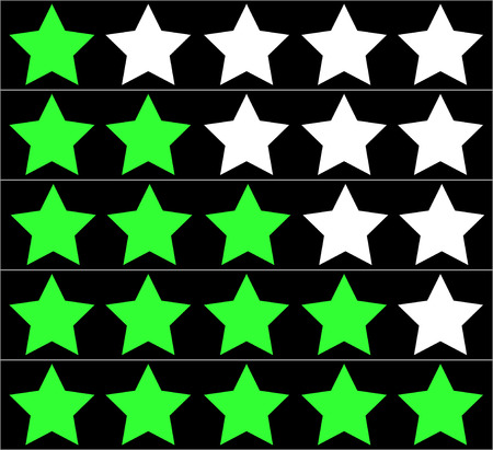 estimation: Five stars rating Illustration
