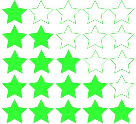 Five stars rating Illusztráció