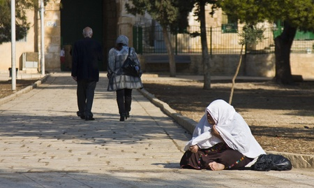 Http:en.wikipedia.orgwikiTemple_Mount; Temple Mount is the holiest site for Muslims and famous tourist site; and a Muslim beggar could get their daily earning and a blessing at the same time.