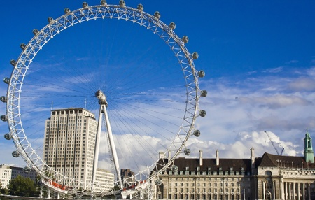 eye  traveller: One of the most well-known landmarks in London, UK - the London Eye, the big wheel situated across the Thames from the Westmister.