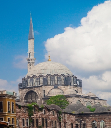 View of Blue Mosque (Sultanahmet Camii) in Istanbul. Stock Photo - 19754073
