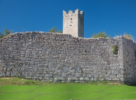 Remnants of medieval city wall and tower abandoned and destroyed in ab. 13-15 century Stock Photo - 22458658