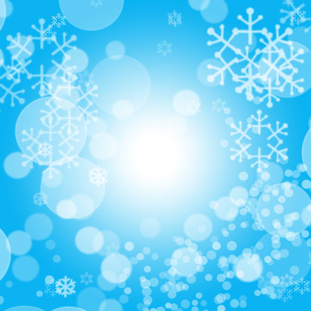 Abstract Christmas background with lightspot and snowflakes photo