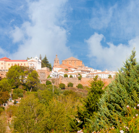 General view on the village of Ronda in Andalusia from below photo