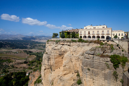View of El Tajo canyon in Ronda and surrounding landscape photo