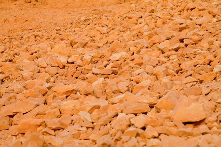 rockslide: Yellow limestone rocks background