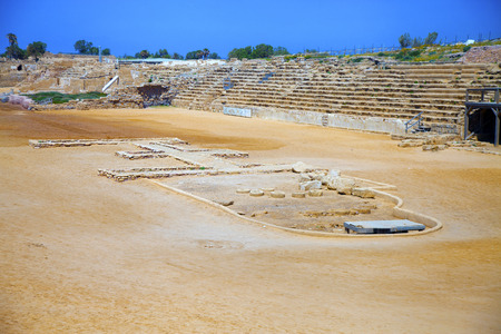 hippodrome: Ancient Roman times hippodrome in Caesarea, Israel