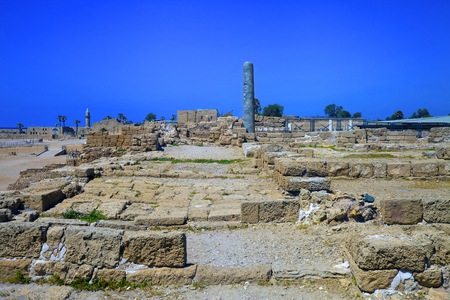 caesarea: Archeological site of great ancient city of Caesarea