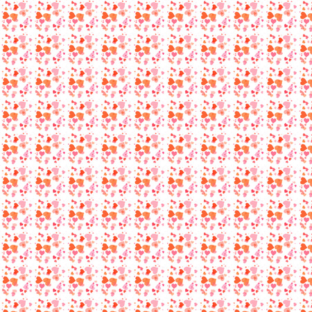 chaotic: Valentine chaotic flying hearts square seamless background Stock Photo