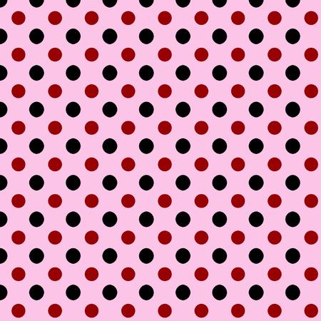 red polka dots: de fondo sin fisuras cuadrado abstracto simple con negro y el vino rojo lunares más de rosa