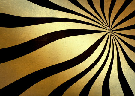 gold textured background: Golden glitter abstract textured burst wave background black on gold