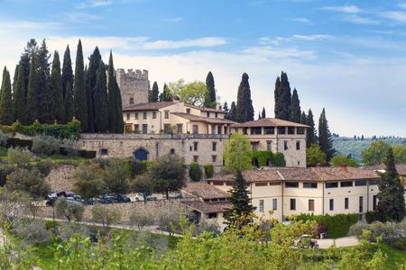 View on Castello Verazzano, Greve in Chianti, Italy