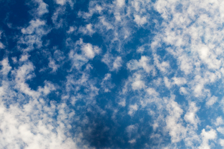 Cirrus clouds in the beautiful blue skies - natural background