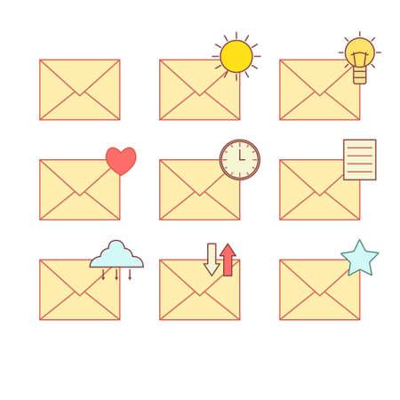 message vector: message vector icon set.