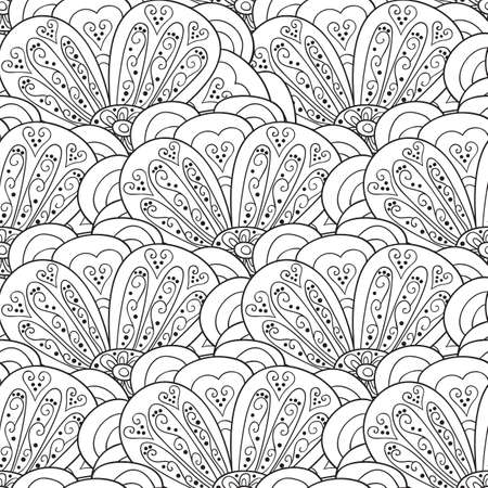 seamless pattern floral: Flower vector seamless pattern. Floral print.