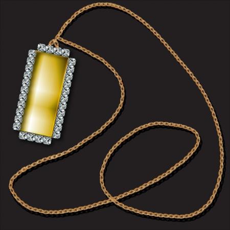 a majestic gold and diamond pendant