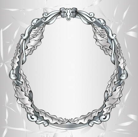 spiegelbeeld: Decoratieve ovale vintage frame