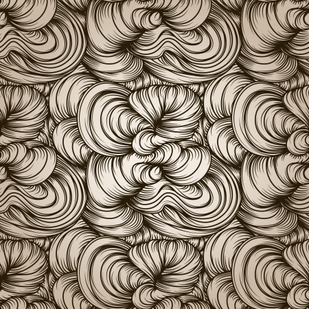 seamless abstract hand-drawn pattern with waves Vector