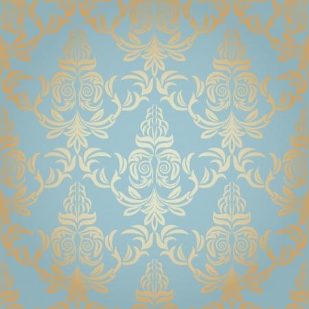 baroque: Papel pintado del damasco sin fisuras