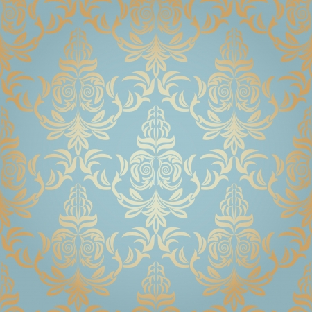 Seamless Damask wallpaper Stock Vector - 18842490
