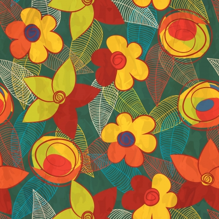 textile image: seamless background with flowers