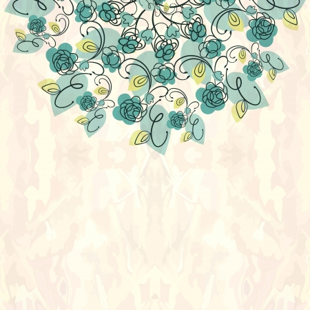 Ornamental floral round lace background