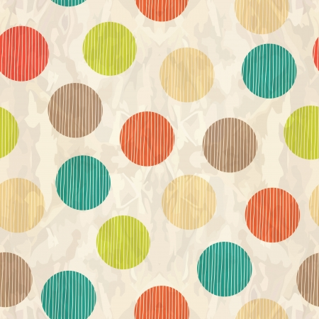 vintage background: Retro seamless pattern with circles Illustration