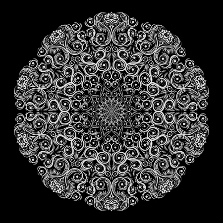 elements design: Ornamental round floral lace pattern  Illustration