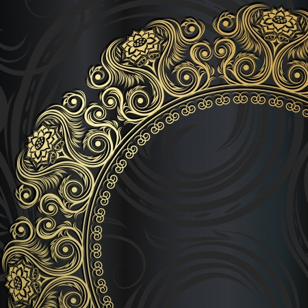Elegant Invitation card with lace ornament  Vector