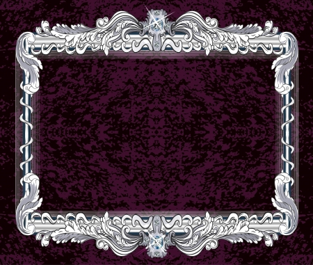 Picture frame with a decorative pattern Illustration