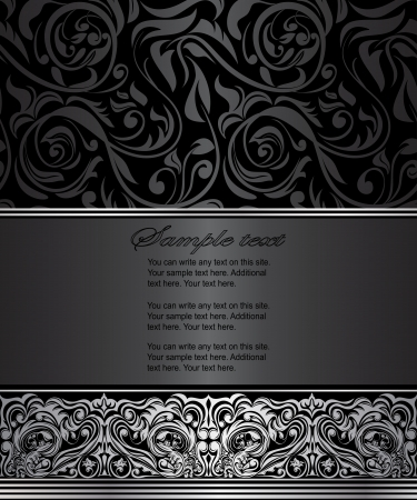 art deco background: Elegant vintage card