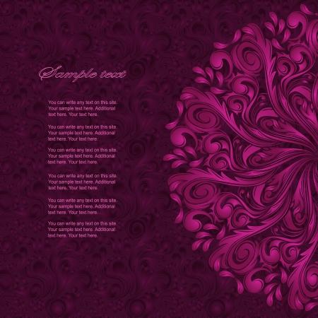 invitation card: Invitation card with lace ornament