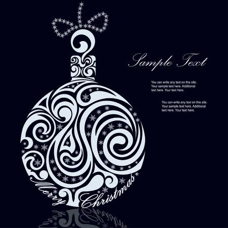 white christmas: Black and White Christmas ball