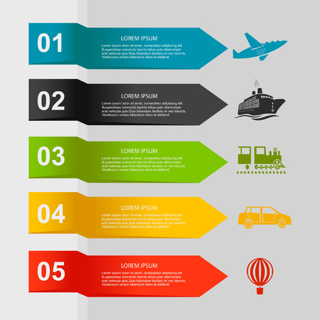 Travel infographic elements. Vector illustration
