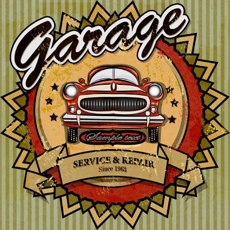 Vintage automotive label