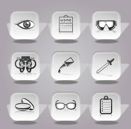 lentes de contacto: iconos oftalmolog�a establecen.