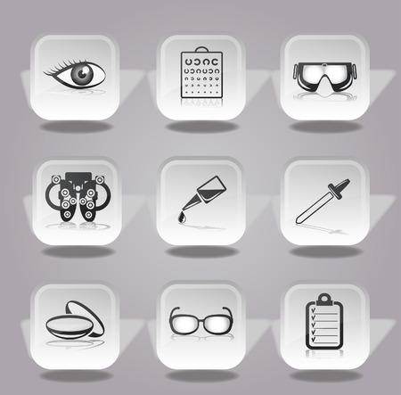 lens: ophthalmology icons set.