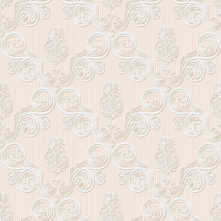 white textured paper: seamless background with flowers